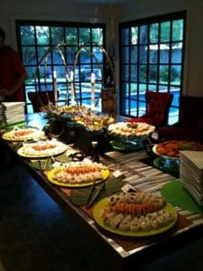 A Catering Buffet Tablescape from Asian Mint, Dallas TX