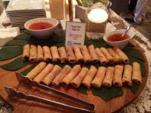 Catering Platter of Vegetable Egg Rolls from Asian Mint, Dallas TX
