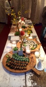 Catering Sushi Tablescape by Asian Mint, Dallas TX