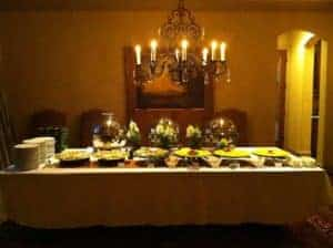 Catering Table Courtesy of Asian Mint, Dallas TX
