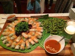 Catering with Summer Rolls and Edamame from Asian Mint, Dallas TX