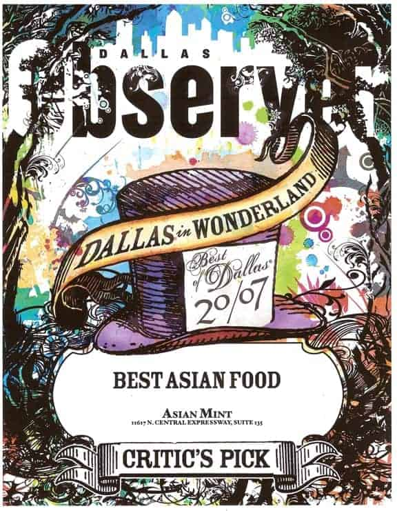 Dallas Observer: Best Asian Food Critic's Pick: Asian Mint