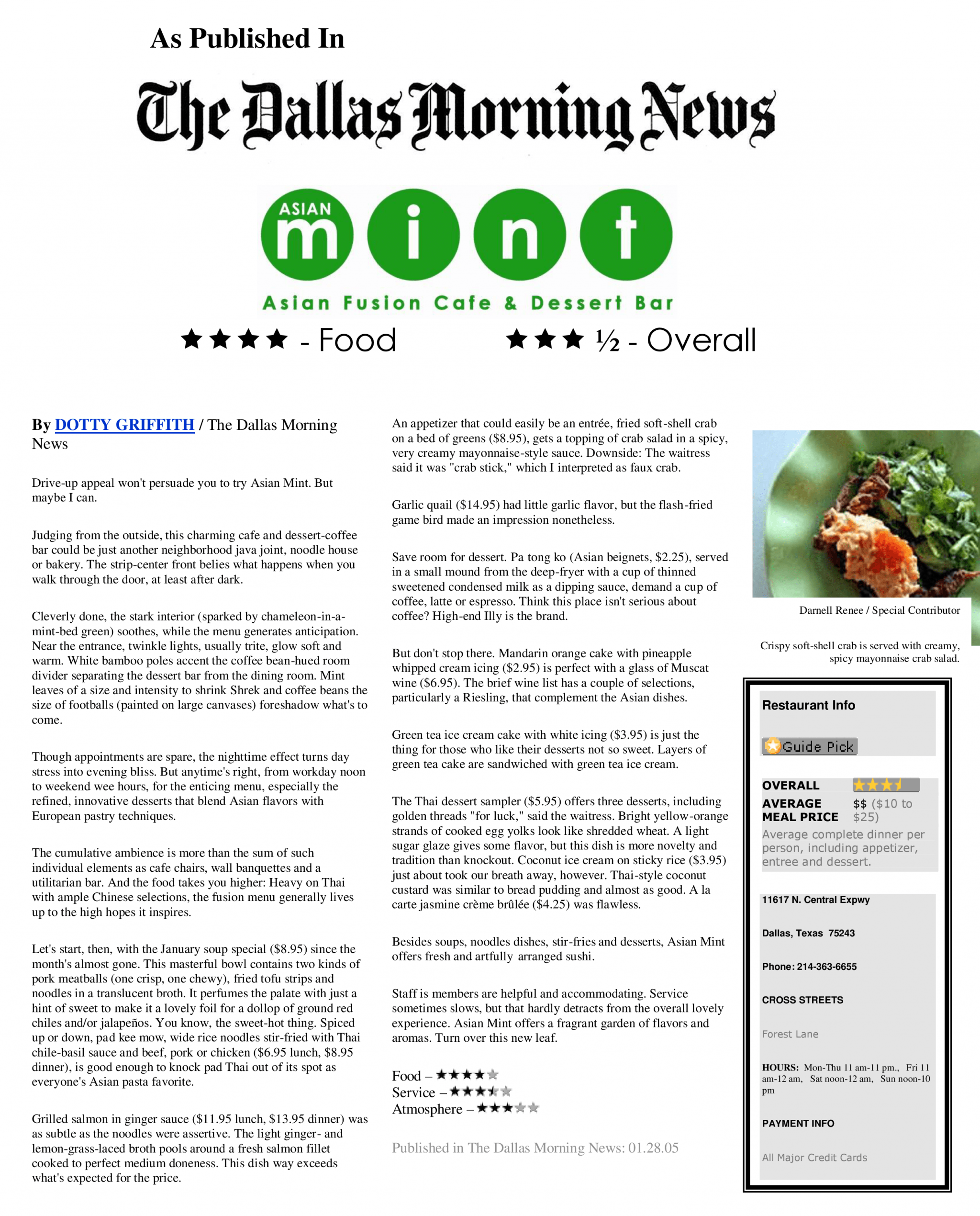 The Dallas Morning News Article About Asian Mint