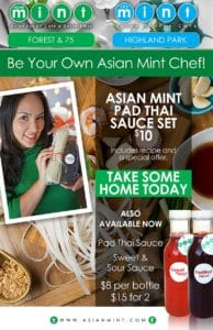 The Mint Pad Thai Sauce Set Poster, Asian Mint, Dallas TX