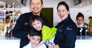 Nikky Phinyawatana, Tan Noisiri, Knox, and Skye - the Family of Asian Mint, Dallas TX