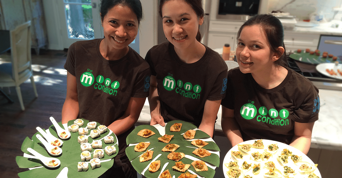 asian mint offers catering dallas