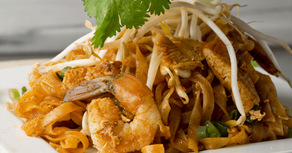 Gluten free pad thai at Asian Mint