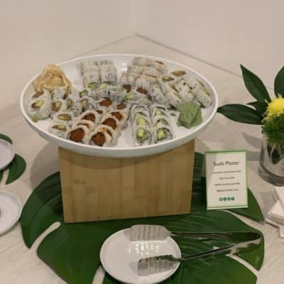 Asian Mint Catering - Sushi Platter with Tamari Sauce