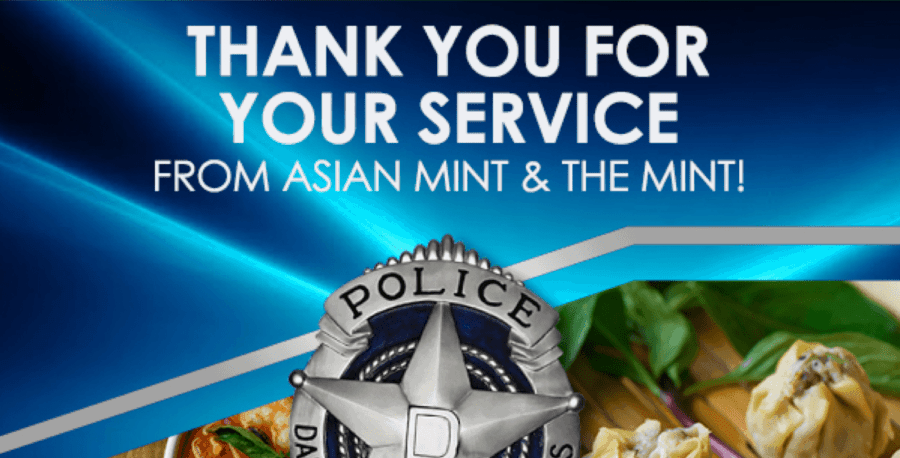 Thank you, Dallas Police Department!