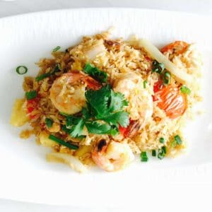 Pineapple Cashew Shrimp Fried Rice from Asian Mint