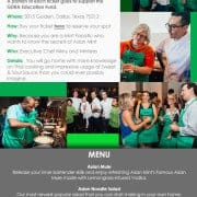 Asian Mint Cooking Class Promotion Email