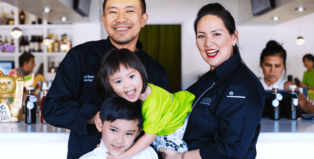 Chef Nikky Phinyawatana and Family
