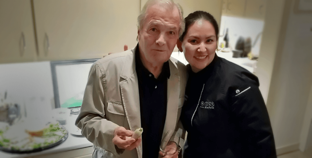 Chef Jacques Pepin and Chef Nikky Phinyawatana