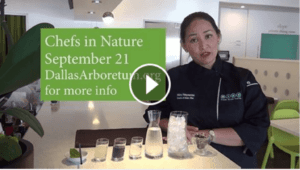 Nikky Phinyawatana is the featured Chef at Dallas Arboretum's Chefs in Nature