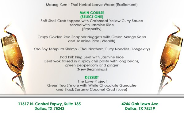 New Year's Eve Specials at Asian Mint