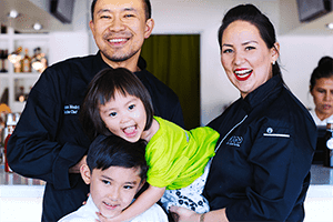 Chef Nikky Phinyawatana with Family