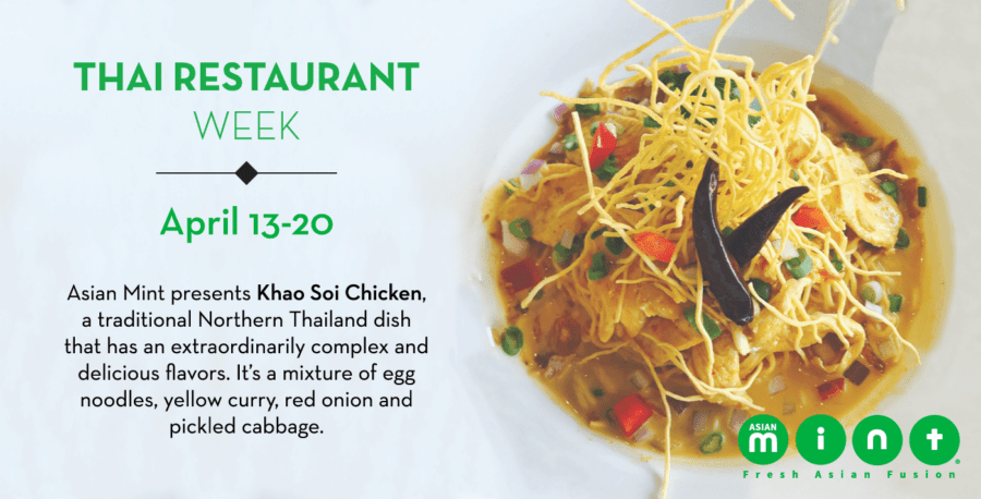 Asian Mint adds Thai Khao Soi Chicken and Mango Mandarin Chicken to DFW Thai Restaurant Week