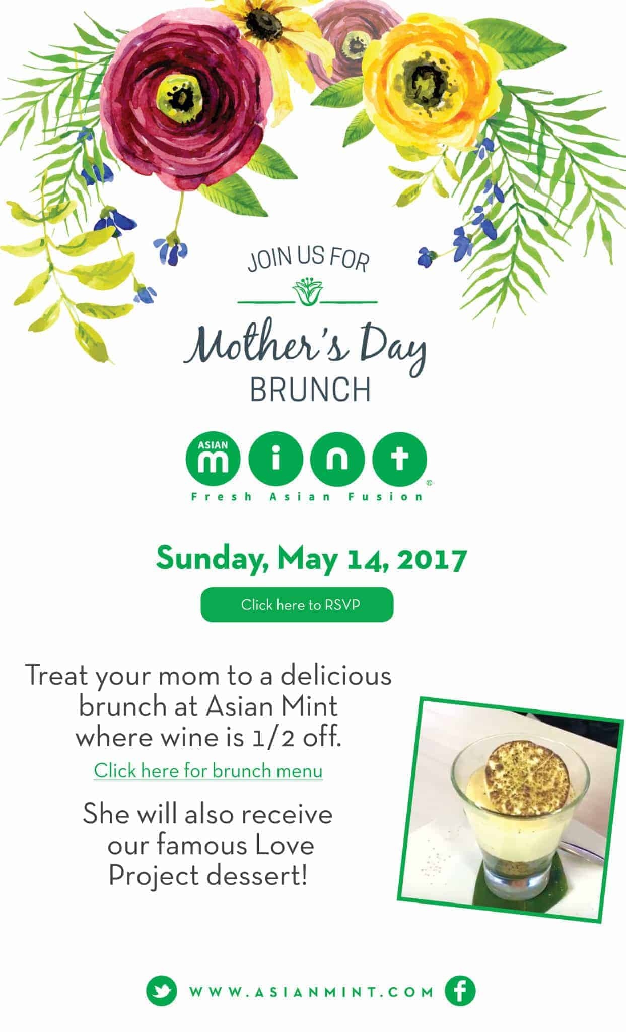 Mother's Day Brunch at Asian Mint Dallas TX