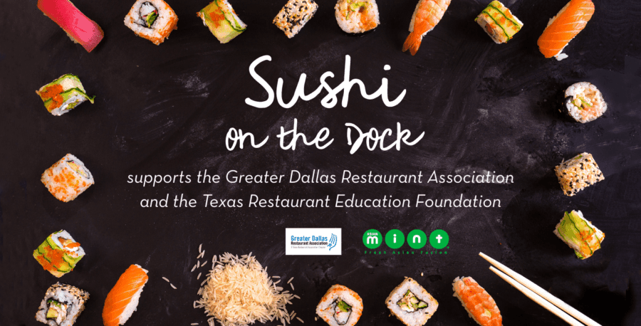 Asian Mint Serves at 'Sushi on the Dock' Event