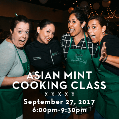 Asian Mint Cooking Class September 2017