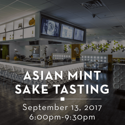Asian Mint Sake Tasting 2017