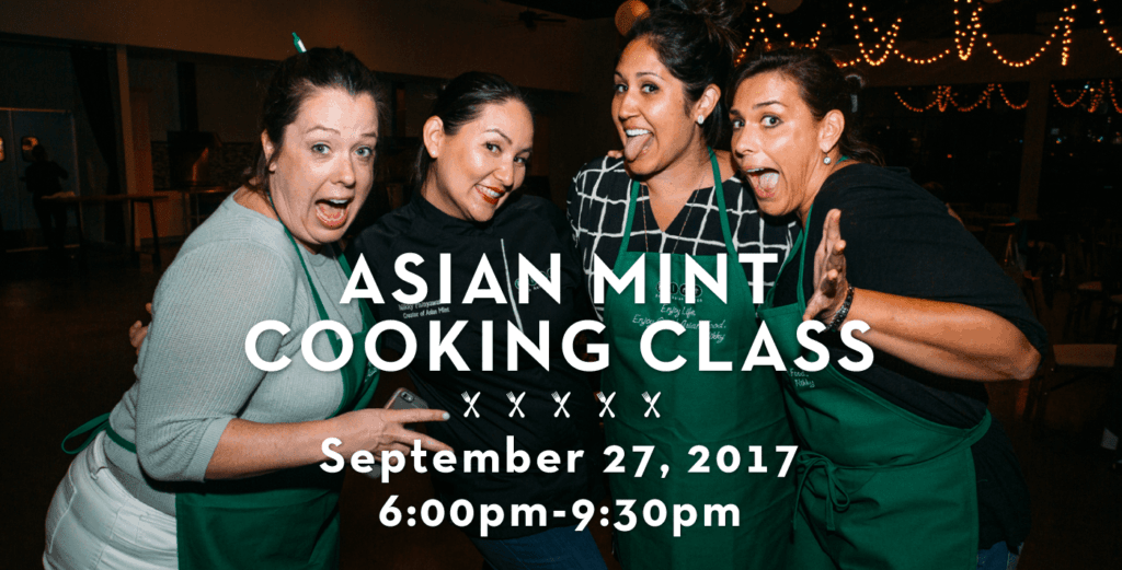 September 27th Asian Mint Cooking Class