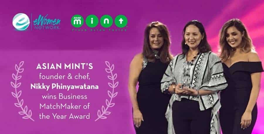 Asian Mint's Founder and Chef, Nikky Phinyawatana, Wins Business Matchmaker of the Year Award