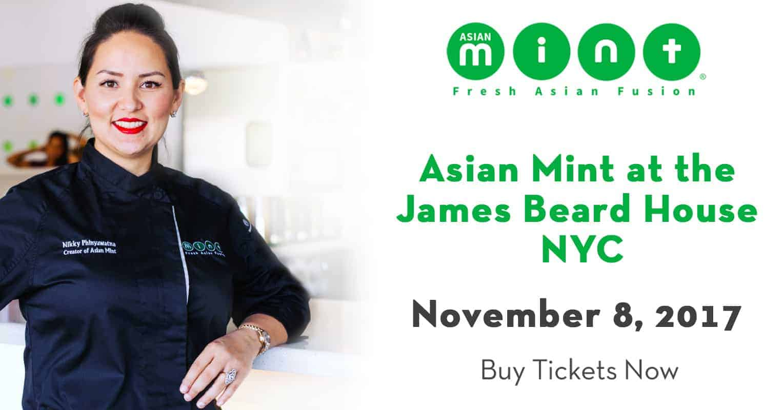 Asian Mint Previews James Beard House Menu