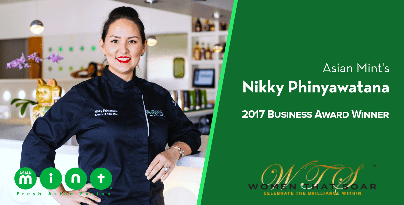 Nikky Phinyawatana, Founder and Chef at Asian Mint, Honored with Business Leader Award at 10th Anniversary Women That Soar Event