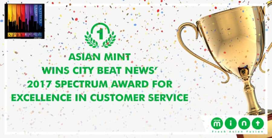 Asian Mint Wins City Beat News' 2017 Spectrum Award for Excellence in Customer Service