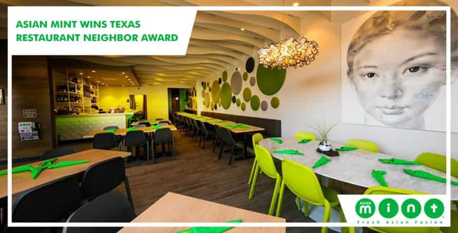 Asian Mint Wins Texas Restaurant Neighbor Award