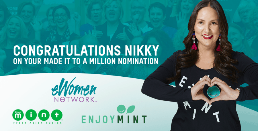 "eWomen Network Nominates Chef Nikky for ""Made it to a Million"" Award"