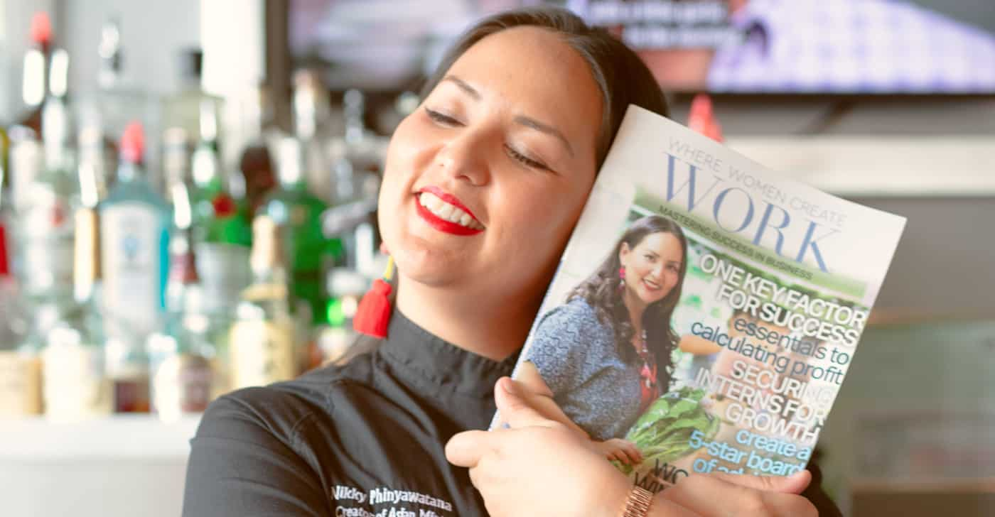 Asian Mint Chef Nikky Graces August 2019 Cover of Where Women Create Work Magazine