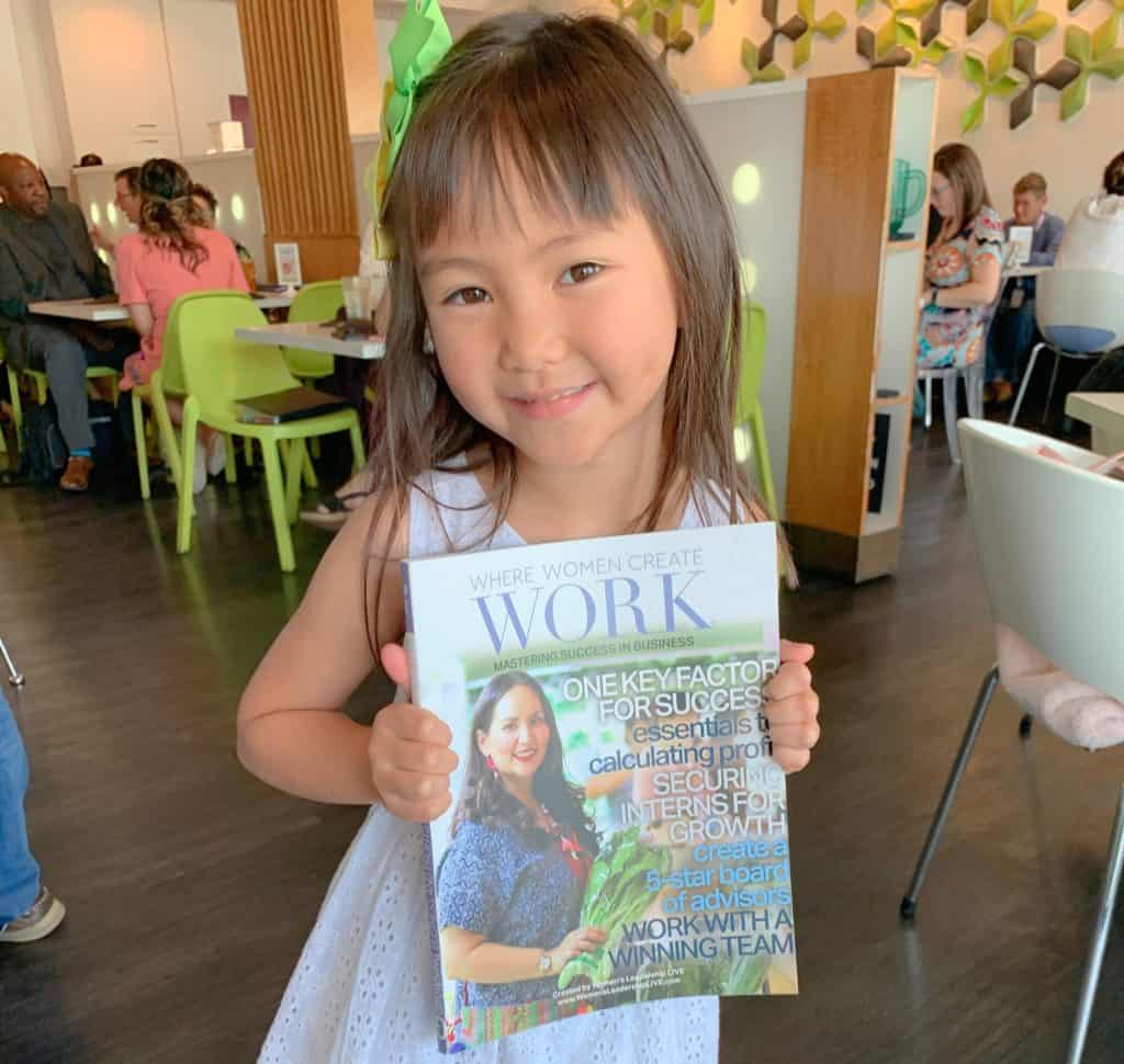 "Asian Mint's Chef Nikky Graces August 2019 Cover of ""Where Women Create Work"" Magazine II"