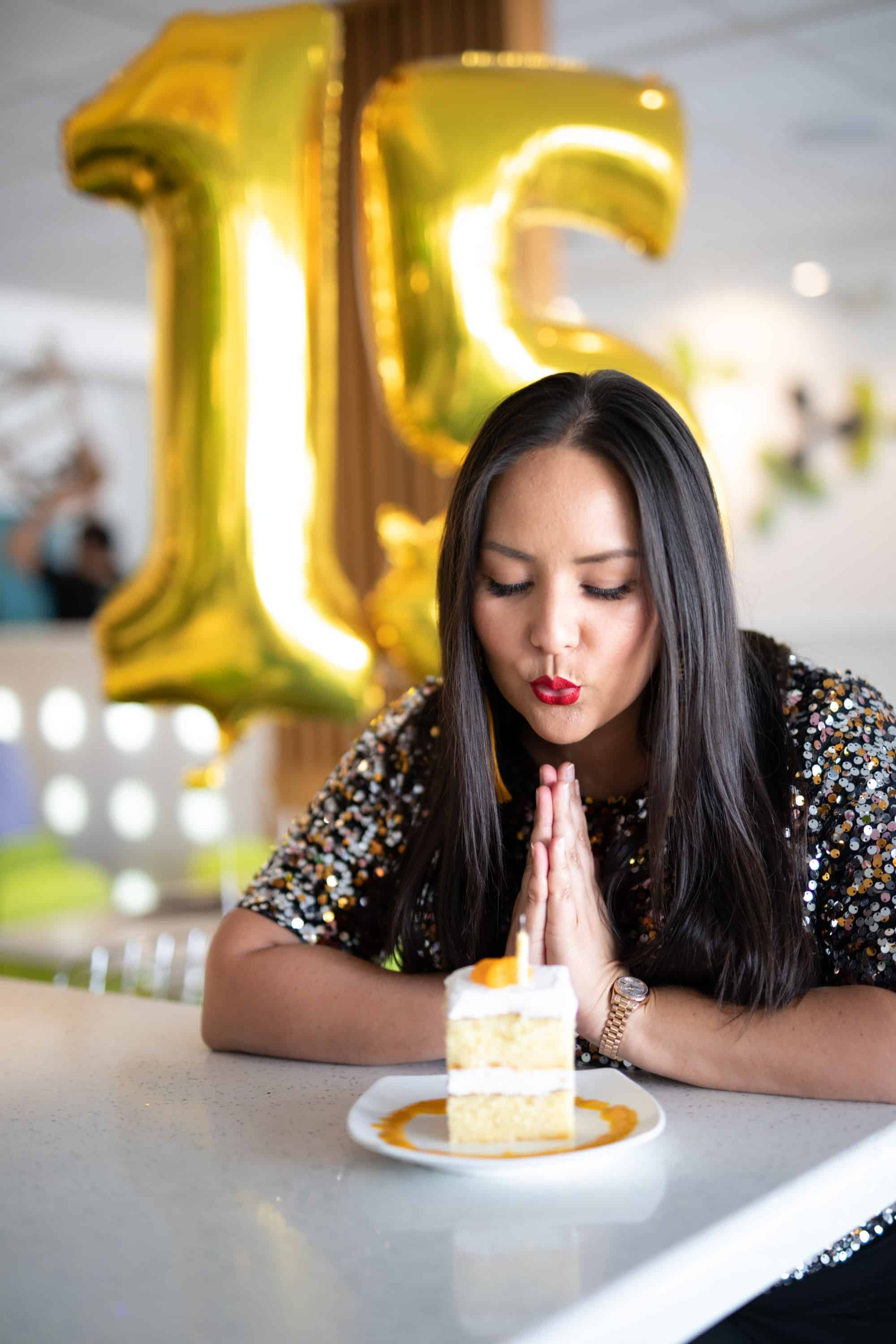Nikky Phinyawatana and Peach Cake at 15 years in Business with Asian Mint
