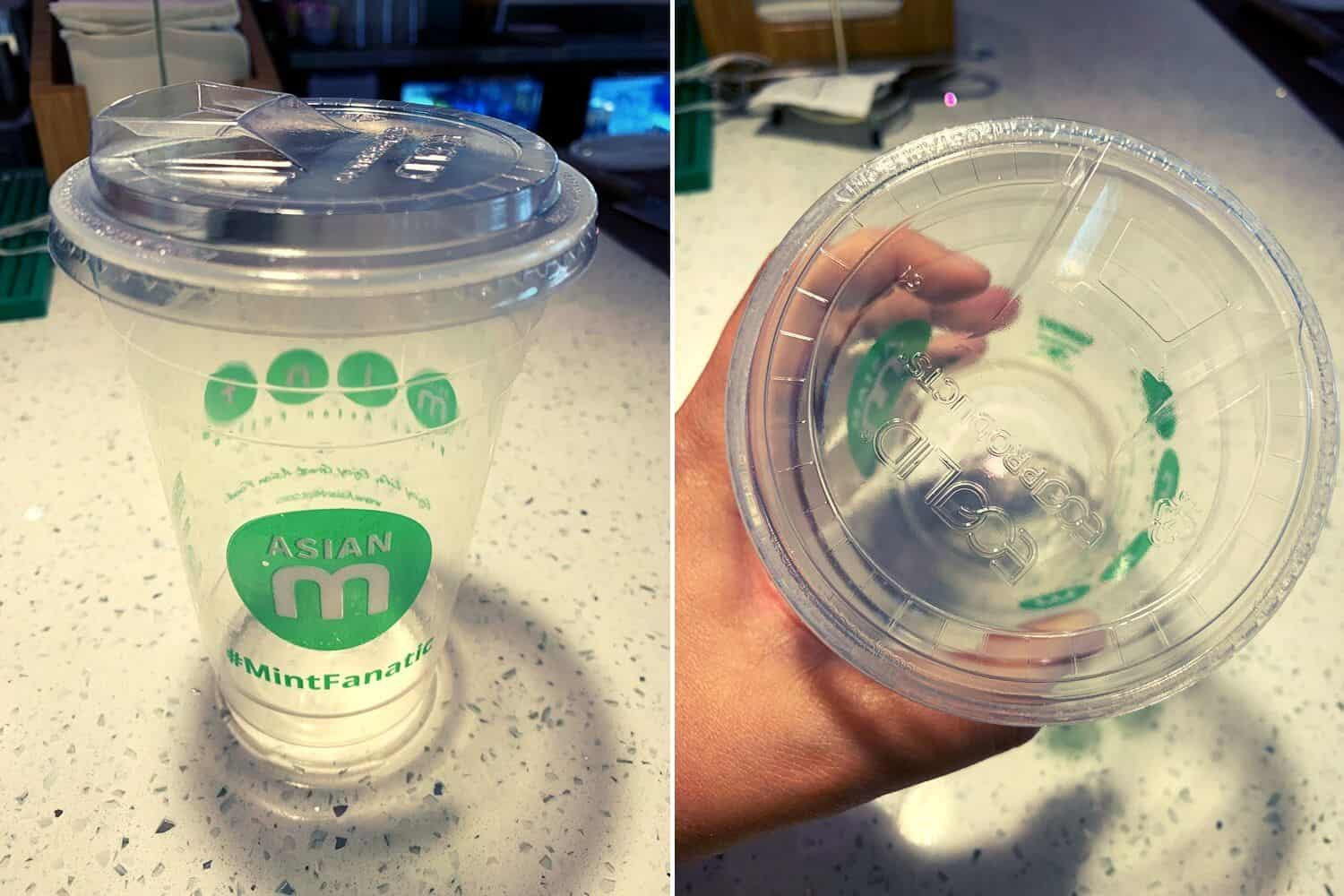 Asian Mint Strawless Lids