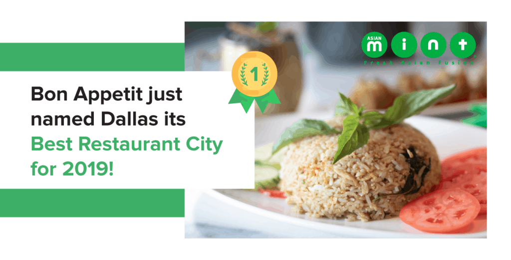 Dallas TX Is Bon Appetit Magazine's Best Restaurant City 2019