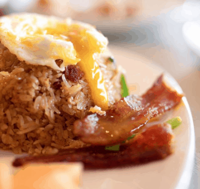 the morning after brunch fest bacon fried rice asian mint