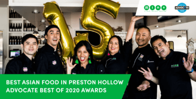 Asian Mint Grabs Best Asian Food in Preston Hollow Advocate Best of 2020 Awards