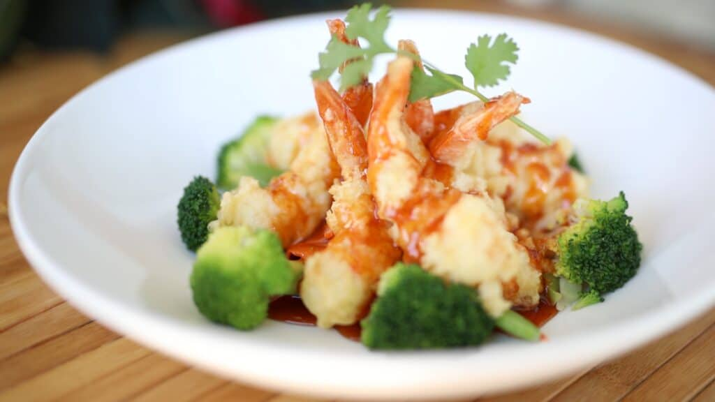 tamarind shrimp, asian mint holiday menu