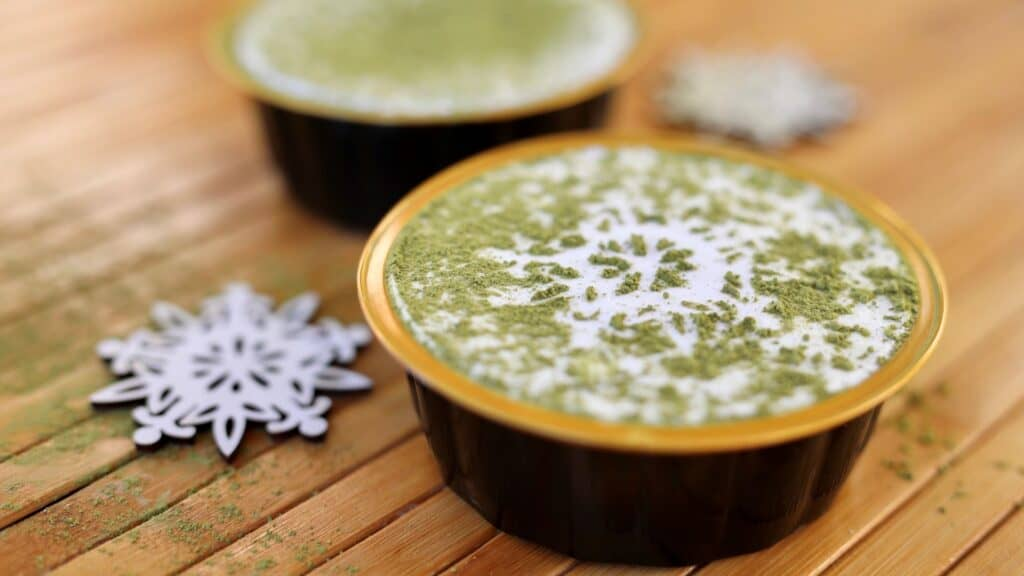 matcha parfait, asian mint holiday menu