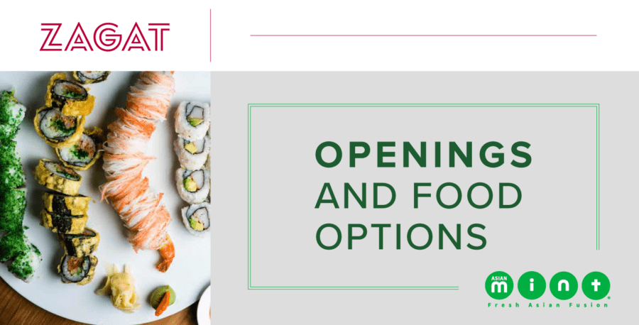 Asian Mint in Zagat: Openings and Food Options