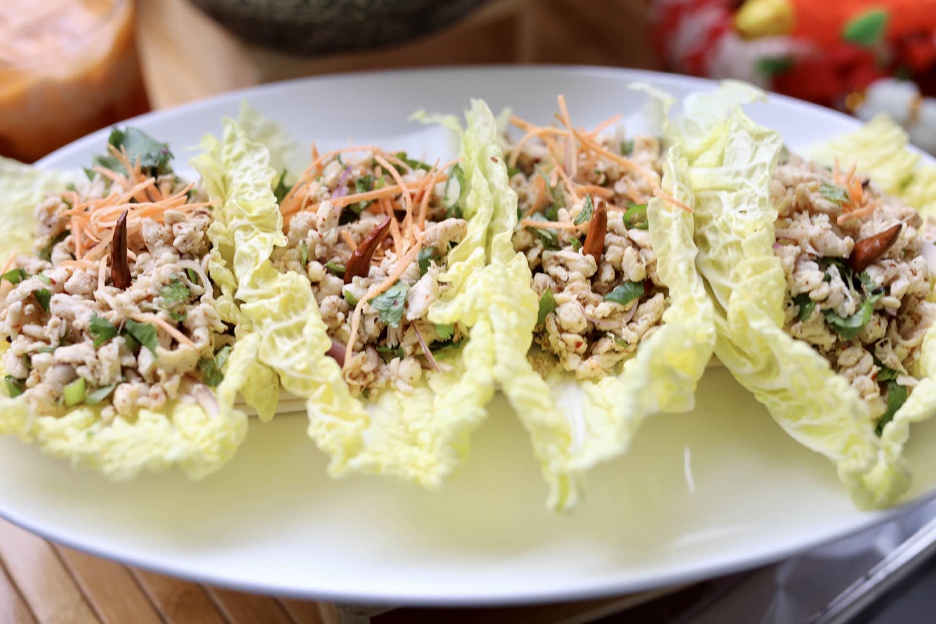 chicken lettuce wraps, songkran