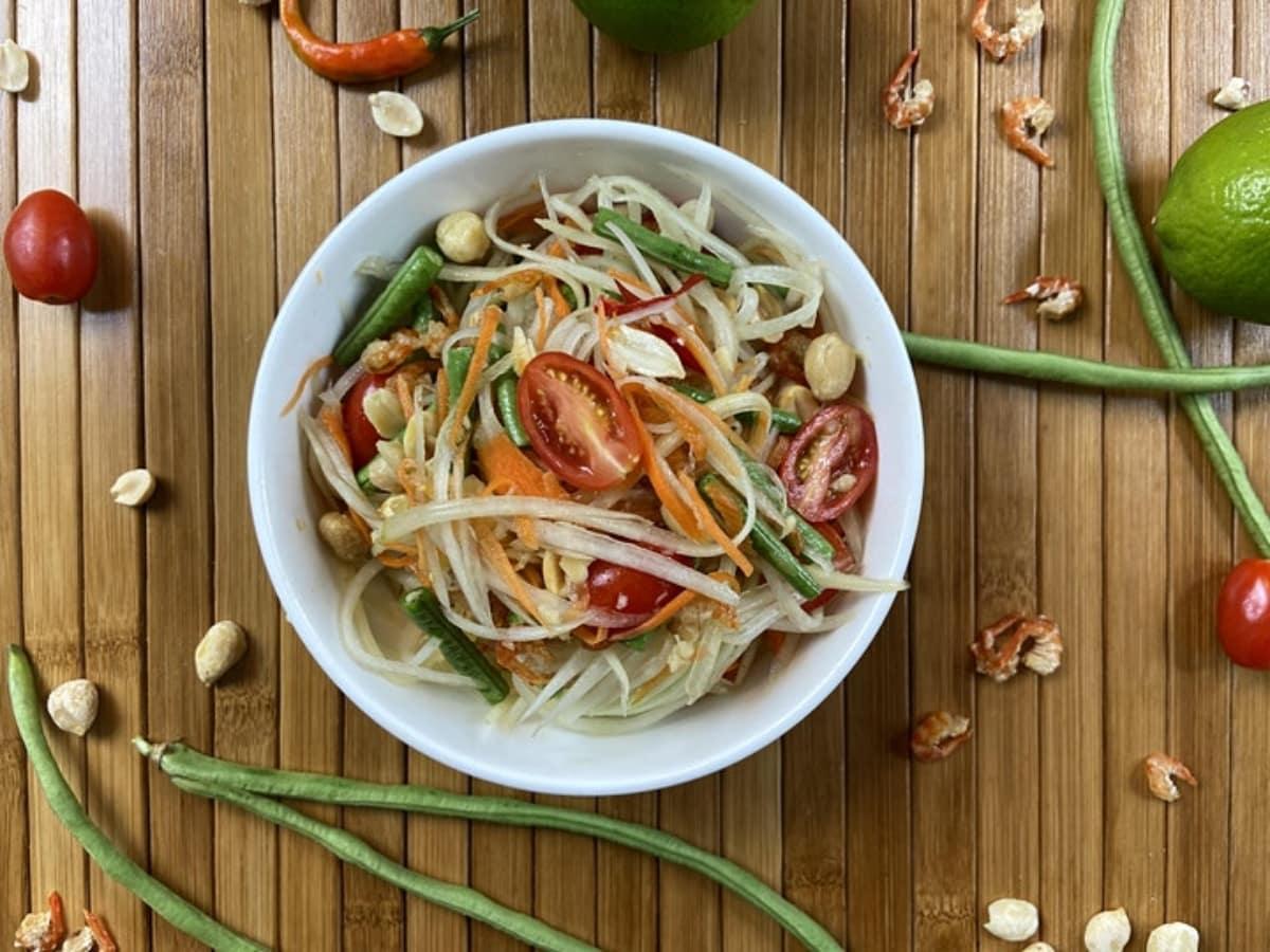 papaya salad, songkran
